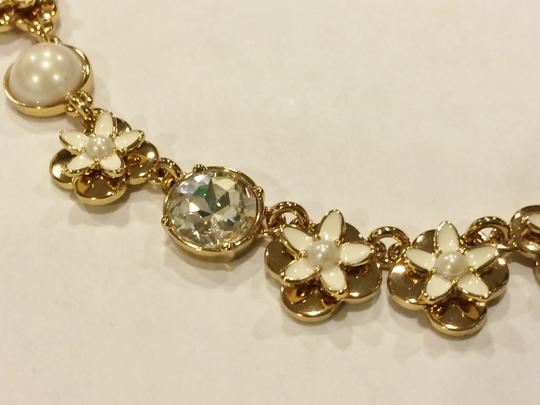 Kate Spade Nwt Kate Spade Window Seat Bouquet Petite Mini Floral Necklace 12k Gold Plate Sweet!