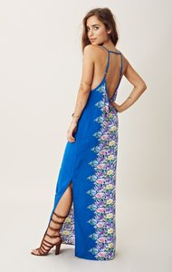Blue Maxi Dress by Blu Moon Maxi Bohemian Backless Date Night Summer