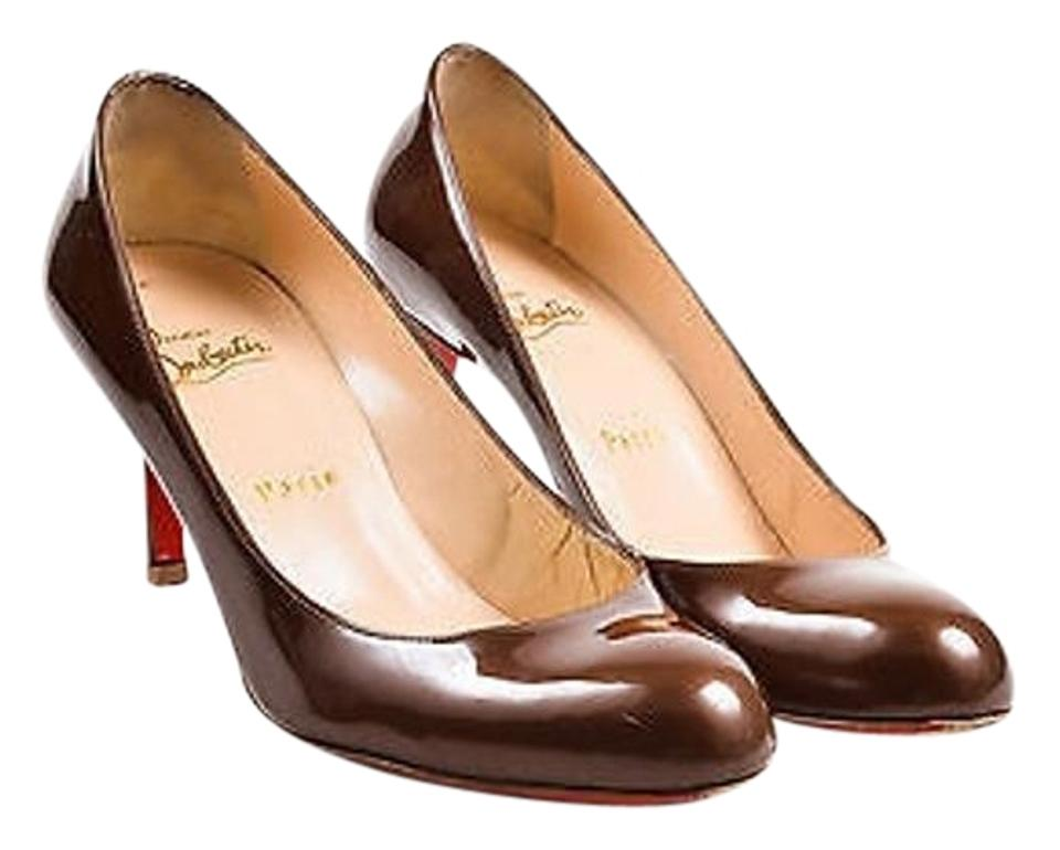 official photos aa753 69a5c Brown Patent Leather 70mm