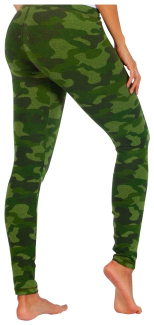 None Green Camouflage Leggings