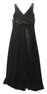 Evan Picone Satin Belt Zipback Sleeveless Midcalf Dress