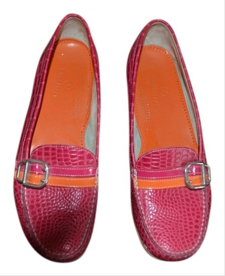 Preload https://item2.tradesy.com/images/cole-haan-pink-with-patent-leather-pink-and-orange-strap-flats-1756856-0-0.jpg?width=440&height=440