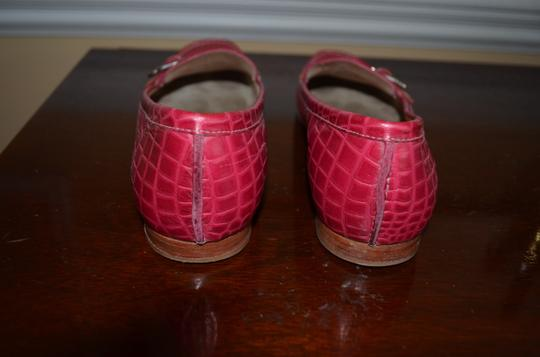 Cole Haan Pink with patent leather pink and orange strap Flats