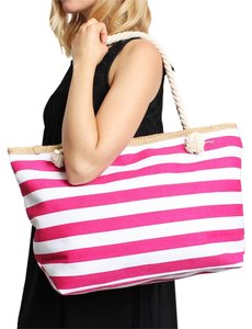 Other Classic Stripe Tote in MAGENTA