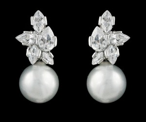 Brand New Highest Quality Cz/pearl Petite Earrings