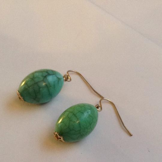Forever 21 Turquoise And Gold Earrings