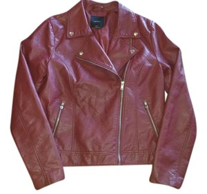 Forever 21 Leather Barn Red Leather Jacket