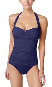 Tommy Bahama Tommy Bahama Pearl Solids V Front Halter Cup 1 Piece Mare NavySize 12