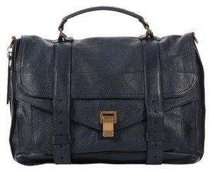Proenza Schouler Navy Ps1 Ps.k0513.05 Leather Messenger Satchel