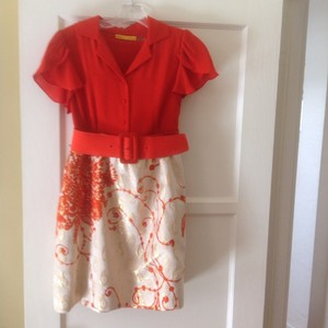 Alice + Olivia short dress Orange and Cream on Tradesy