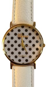 Geneva White Polka Dot Watch