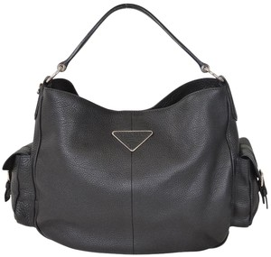 Prada Leather Hobo Shoulder Bag