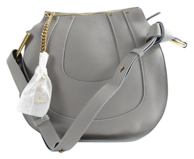 Item - Hayley Small Leather Cashmere Grey Calfskin Hobo Bag