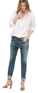 AG Adriano Goldschmied Beau Shorts Boyfriend Cut Jeans-Medium Wash