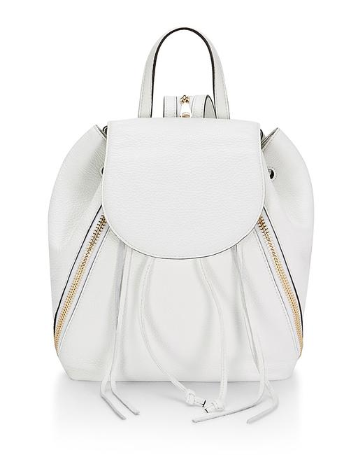 Item - New Bryn White/Gold Leather Backpack