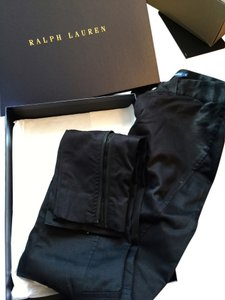 Ralph Lauren New Black Skinny Zipper Pants