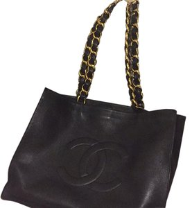 Chanel Tote in Black With Gold Hardware