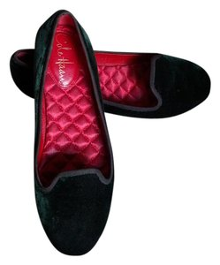 Cole Haan Slippers Loafer Round Toe Dark Spruce Velvet Flats