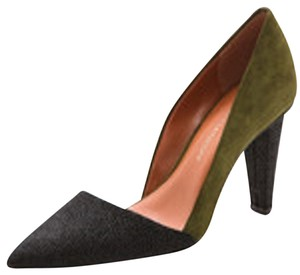 Rebecca Minkoff black and green Pumps