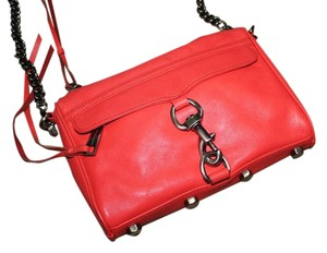 Rebecca Minkoff Leather Pink Red Cross Body Bag