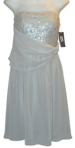 Donna Ricco Draped Chiffon Sequin Dress