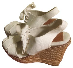 Tory Burch Cream&Tan Platforms