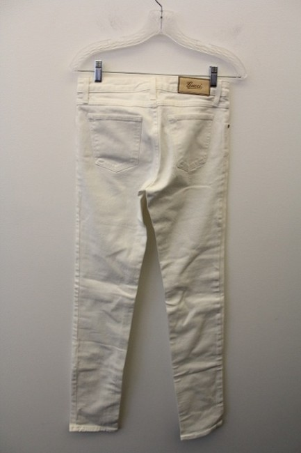 Gucci Womens Jeans Penny Lane Straight Pants White