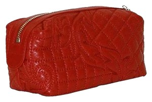 Versace Versace Handbag Red Leather Cosmetic Bag