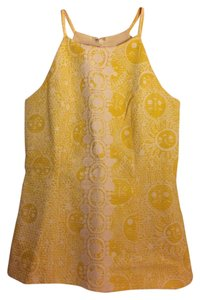 Lilly Pulitzer Yellow- kissed by the sun Halter Top