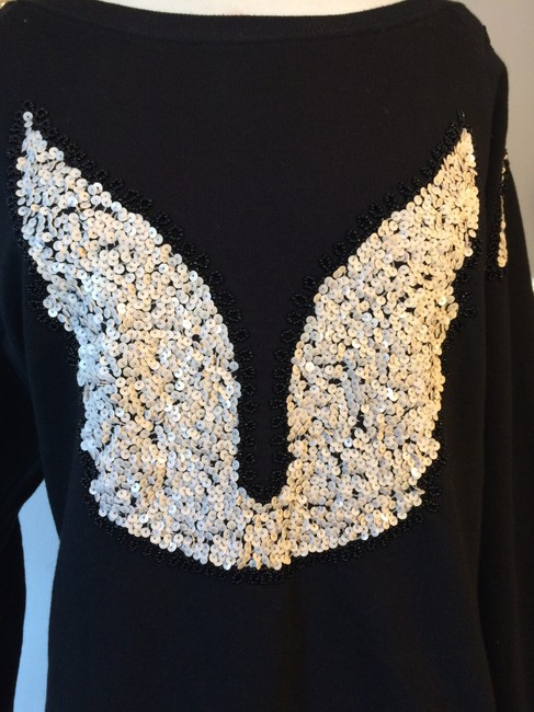 French Connection Angel Wings Sequin Sweater