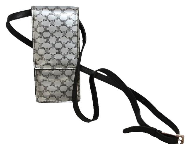 Item - Waist / Black and Silver Pvc Leather Cross Body Bag