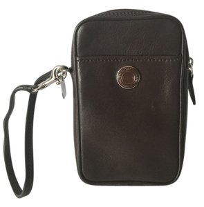 Coach Card With Slide In Back Side Wristlet in brown