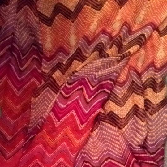 Charlotte Russe Pink Purple And Orange Warp Scarf
