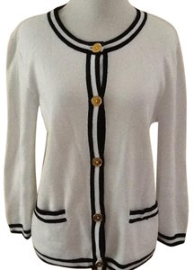 Chaps Striped Nautical Classic Cardigan