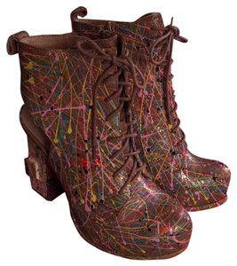 Jeffrey Campbell Tan multi Boots