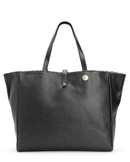 Juicy Couture Tote in Black with Reversible to Snake Print