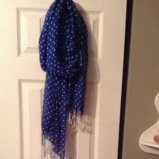 Target Blue And White Polka dot Scarf
