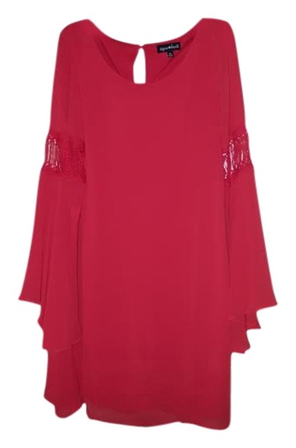 Item - Red Above Knee Short Casual Dress Size 10 (M)