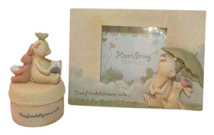 Seagull studios SEAGULL STUDIOS Heart String TEDDIES Frame and Keepsake Gift Set NEW