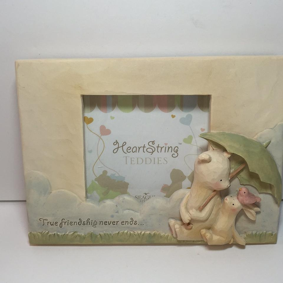 Heart String Teddies Frame and Keepsake Gift Set New - Tradesy