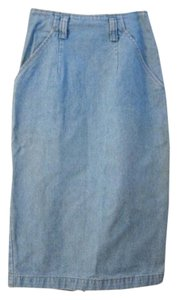 Calvin Klein Denim High Waist Pencil Skirt light blue