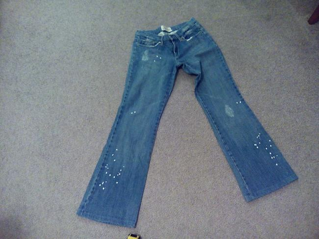 JOE'S Jeans Embroidered Embellished Flare Leg Jeans-Distressed