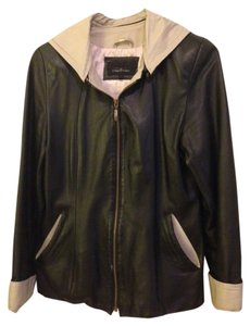 Giglio Black and Cream Leather Jacket