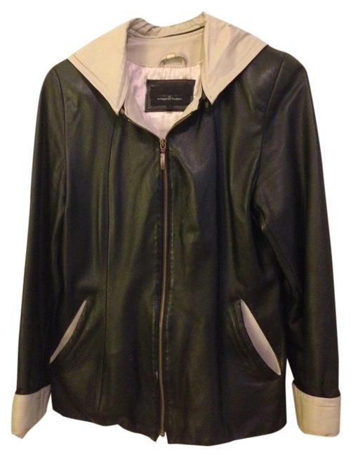 Preload https://item5.tradesy.com/images/giglio-black-and-cream-leather-jacket-1757519-0-0.jpg?width=400&height=650