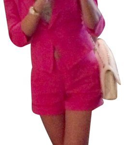 bebe BEBE Hot Pink Blazer & Shorts Suit