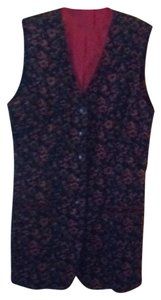 Floral Long Pockets Vest