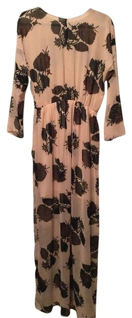 Pink And Black Maxi Dress by Zara