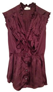 Converse Ruffle Pretty Top Wine