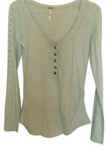 Free People T Shirt Seafoam green