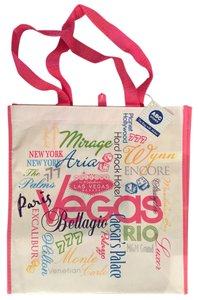 ABC Stores Reusable Shopping Water Resistant Reusable Green Vegas Resorts Tote in Pink